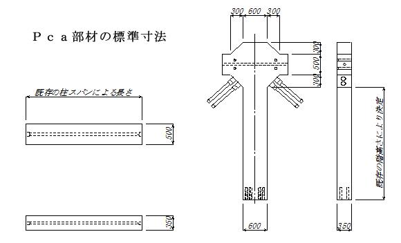 Pca部材の標準寸法